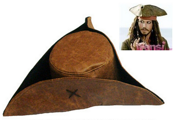 Pirates of the Caribbean Hat Adult Composite cloth Jack pirate hat Free Shipping
