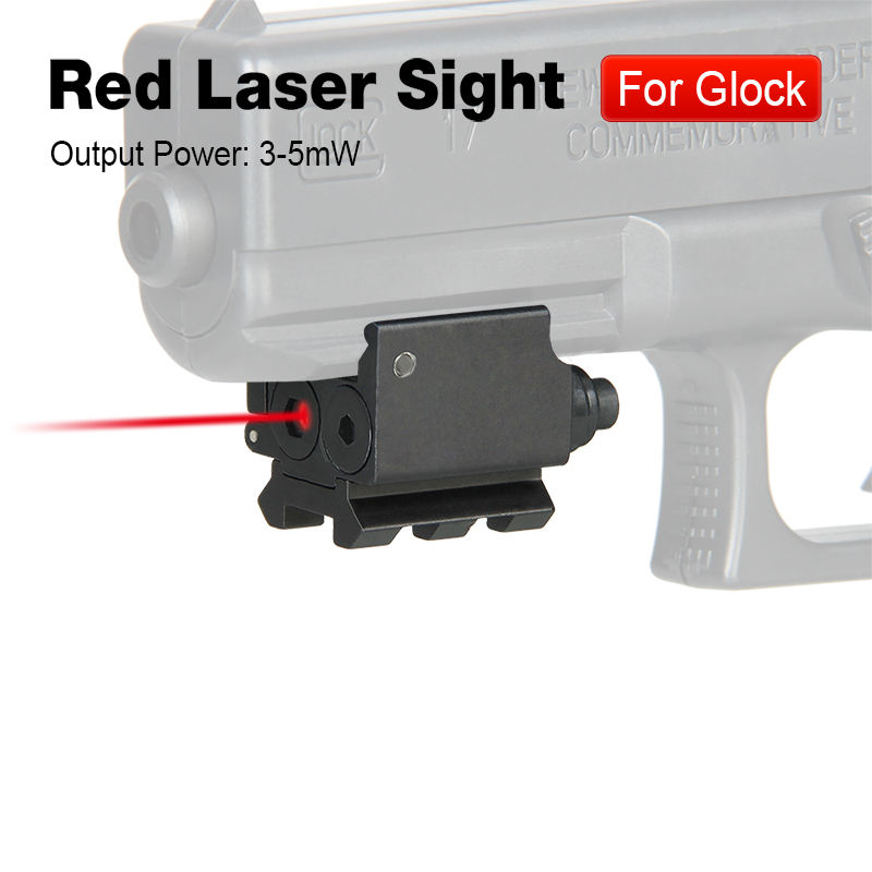 WIPSON Red Dot Laser Sight Mini Adjustable Compact With Detachable Picatinny 20mm Rail For Pistol Air-gun Rifle Hunting Accessor