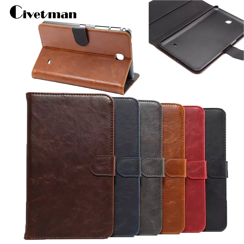 Civetman Tablet e-Books Case For Samsung Galaxy Tab 4 7 Inch Original Leather Flip Stand Case Cover for Samsung T230 T231 T235 new fashion tab s3 9 7 tablet case pu leather flip cover for samsung galaxy tab s3 9 7 inch t820 t825 cute stand cover 6 colors