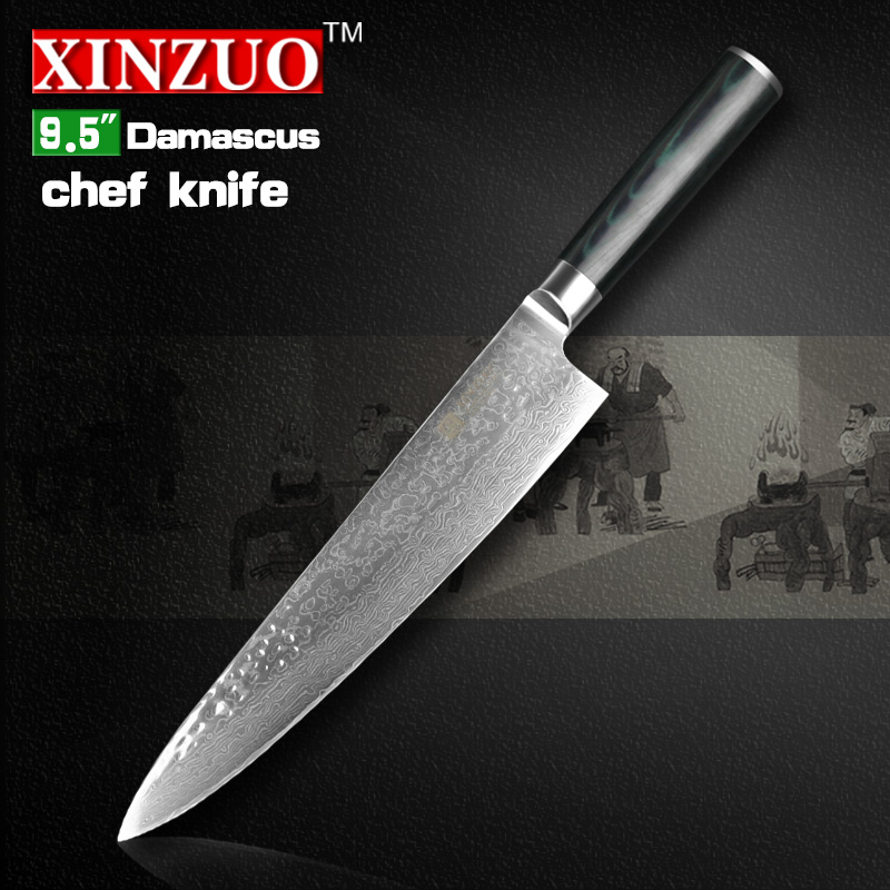 XINZUO HIGH QUALITY 9 5 inch chef font b knife b font Damascus kitchen font b