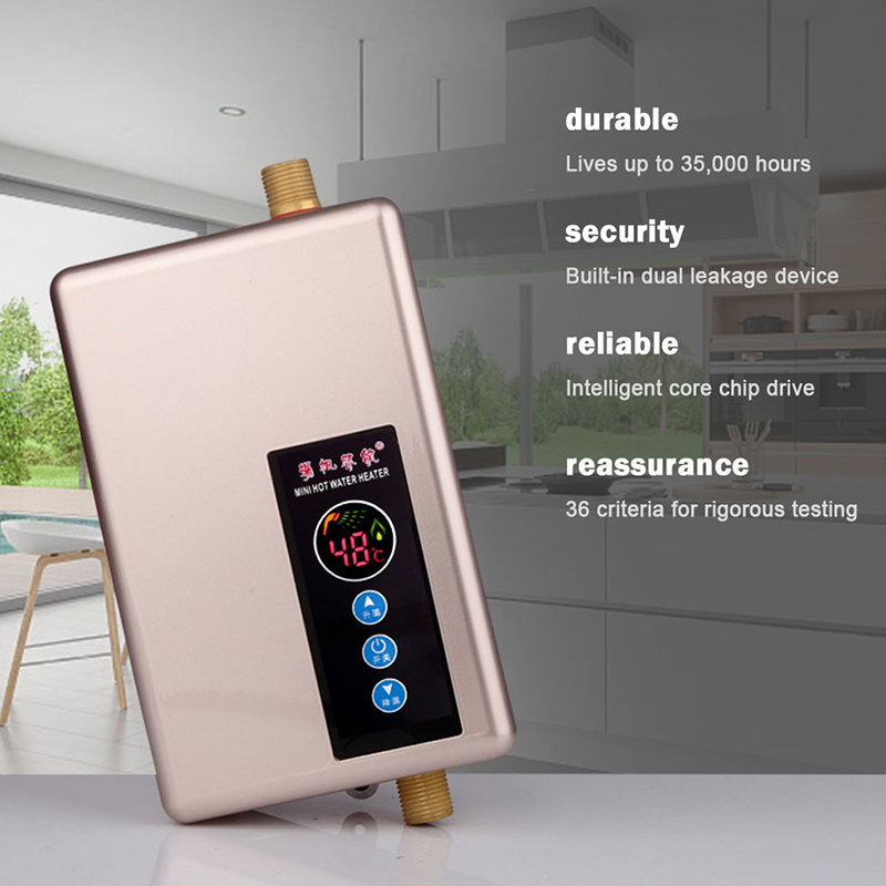 Calentador de agua eléctrico grifo hogar Baño Calentador de agua instantáneo inteligente velocidad caliente Calentador de agua ducha caliente