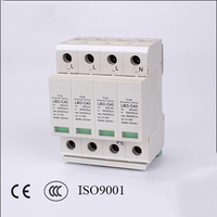 4P 20KA~40KA C ~385VAC Arrester Device LOB House Surge Protector device Protective Low Voltage