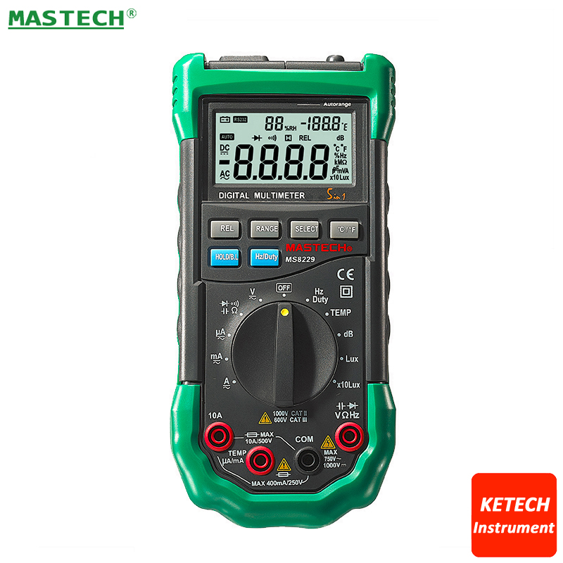 MASTECH MS8229 Auto Range Of Environmental Monitoring Multimeter Can Measure Temperature, Humidity, Illuminance Noise мультиметр mastech 8229
