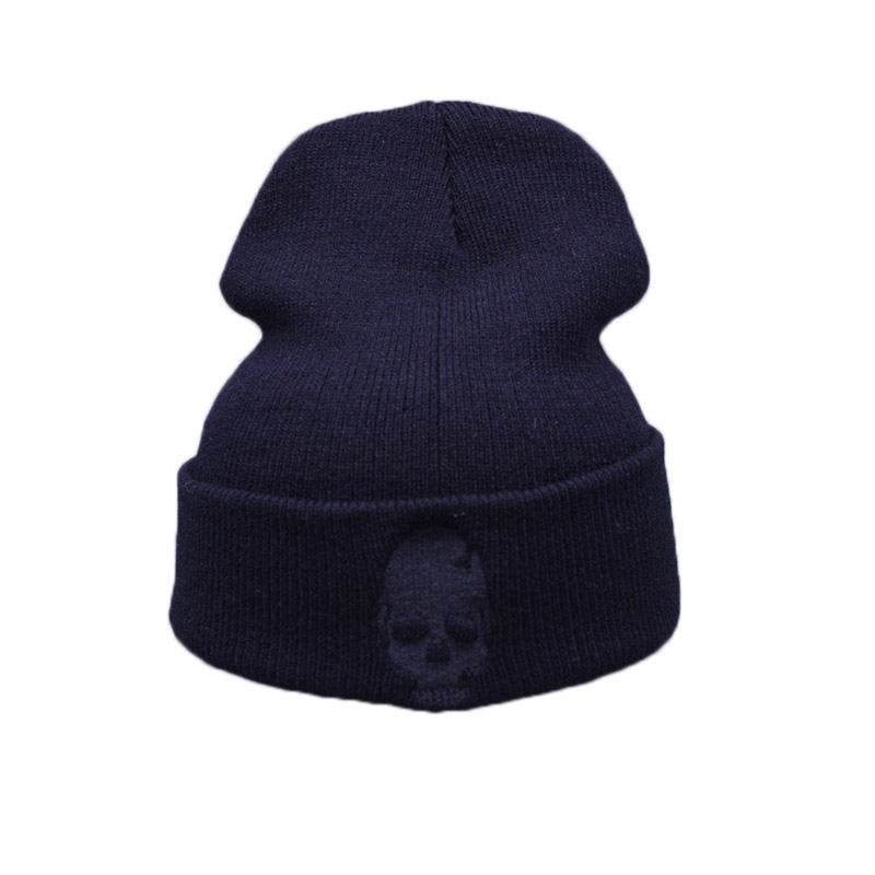 8cd3311f631 Winter Knitting Warm Hat Skull Pattern Daily Slouchy Hats Beanie Cap  Outdoor Skiing Caps Best Sale WT-in Skullies   Beanies from Apparel  Accessories on ...
