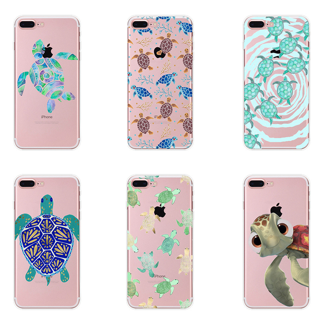 new concept c21d6 ffad6 US $0.69 30% OFF|Accessories Case Cute Sea Turtle Tortoise Cover Tpu Soft  Silicone Phone Cases Coque for Apple IPhone 7 6 6S 5 5S SE Plus 8 Plus-in  ...