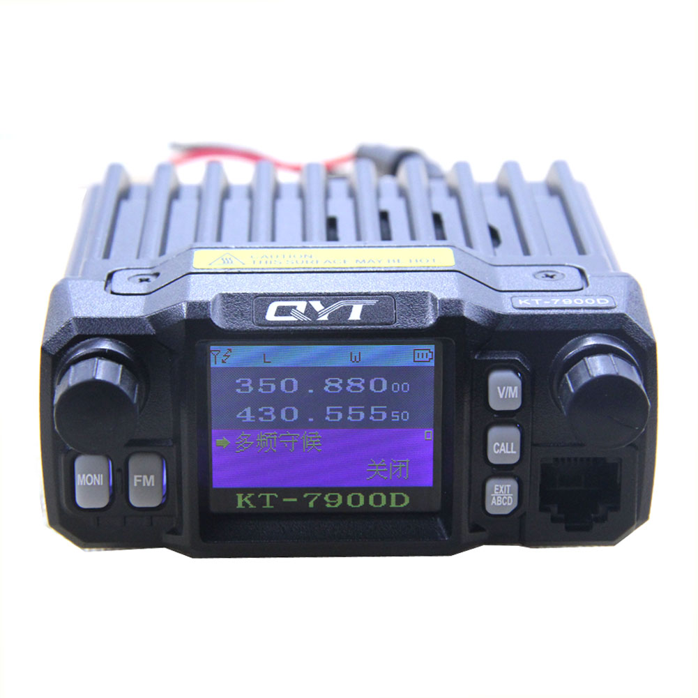 2019 Latest Version Mini Mobile Radio QYT KT-7900D 25W Quad Band 144/220/350/440MHz KT7900D UV transceiver or with Power Supply
