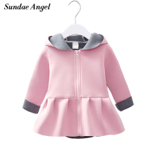 hot deal buy sundae angel baby girl winter coat hooded long sleeved rabbit ears pattern for kids girls autumn jackets outerwear clothes