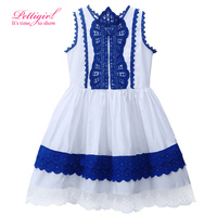 2017 New Fashionable Lace kiz cocuk prenses elbise Children Clothing Dress Cotton Retail Vestidos Kids Clothing GD81016-109Z