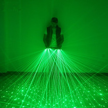 Green Laser Gloves With 4pcs 532nm 80mW Laser,Stage Gloves Luminous Gloves For DJ Club/Party Show