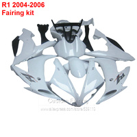 Full Fairings For YAMAHA YZF R1 2004 2005 2006 Fairing kit ( All white ) Free shipping Injection fairings XL01