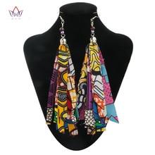 Новая мода африканская Аксессуары для Для женщин в богемном стиле Стиль Для Женщин Серьги Африканский хлопок ткани серьги для подарка WYB29