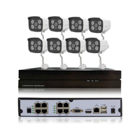 HD 720P 1 0MP 8ch POE Security IP Camera System Network P2P Surveillance Outdoor Night Vision