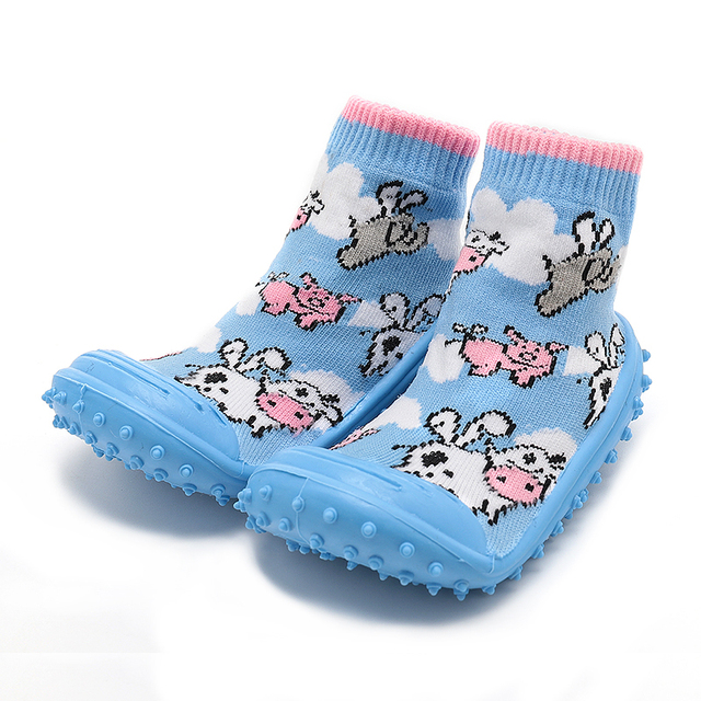 8cbf338adca KiDaDndy Baby bootees Cartoon Cow Toddler Shoes With Rubber Sole 0-2 Year Old  Non Slip Socks Infant Spring Autunm Moccasins YH