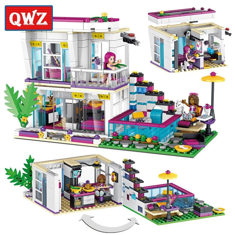 760 шт. поп звезда Livi дом Building Block Совместимость Legoed друзей для обувь девочек самодельные фигурки кирпичи развивающие игрушечные лошадки дете...