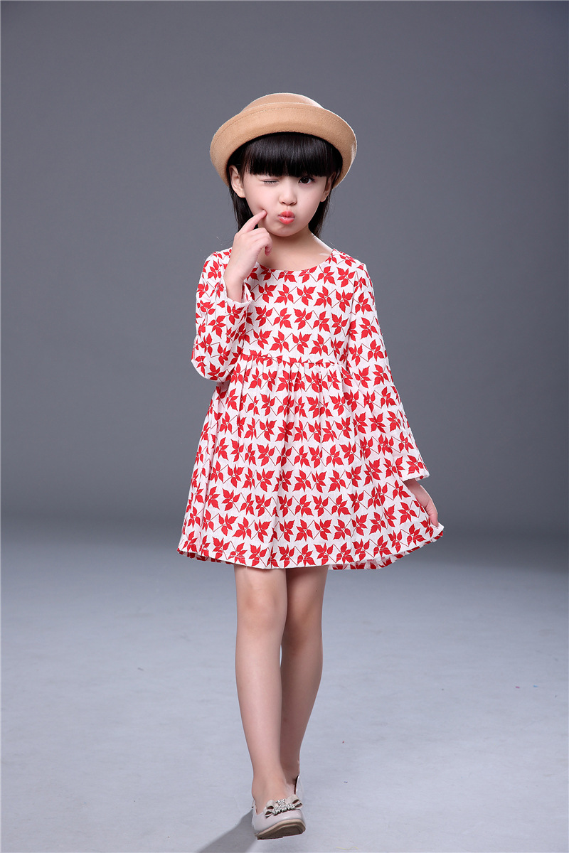 HTB1Pm9EdUD.BuNjt h7q6yNDVXaa 2019 Autumn Girl Dress Cotton Long Sleeve Children Dresses Polka Dot Kids Dresses for Girls Fashion Girls Clothing