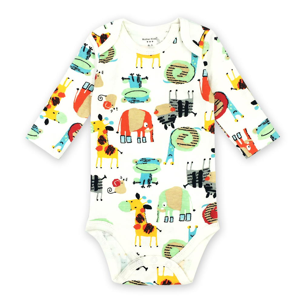 0-24 Months Newborn Baby Girls Boy Clothes Long Sleeve Rompers Cute Cartoon Print Infant Jumpsuit Outfits 1 Pcs cute back wings baby rompers long sleeve gray white cotton kids boy girls romper jumpsuit infant baby autumn clothes outfits