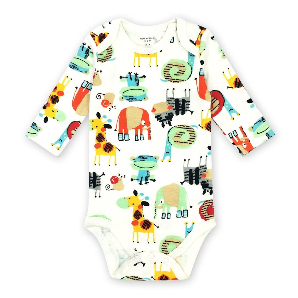 0-24 Monate Neugeborene Baby Mädchen Jungen Kleidung Langarm Strampler Niedlichen Cartoon Print Infant Overall Outfits 1 Stücke Moderate Kosten