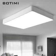 BOTIMI Modern LED Ceiling Lights Black White Square Office Light With Dimming remote Home Lighting For Living Room Dining Lamps