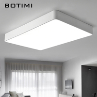 BOTIMI Modern LED Ceiling Lamp Black White Squre Office Lights With Remote Dimmable For Living Room