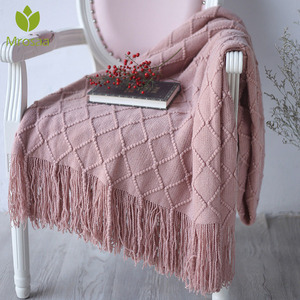 Image 1 - New Warm Nordic Knitted Blanket Throw Thread Blanket on the Beds Sofa Plaid Travel TV Nap Blanket Soft Towel Bed Plaid Tapestry