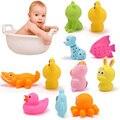 5 pcs Aleatória Brinquedos Do Banho Do Bebê Bonito Do Cão Pato Brinquedos De Banho De Peixe Crianças Brinquedo de Banho Casa de Banho Do Presente Do Bebê de Borracha Macia