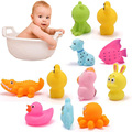 5pcs Random Baby Bath Toys Cute Duck Dog Fish Bath Toys Soft Rubber Children Bathroom Bathing Toy Gift Baby