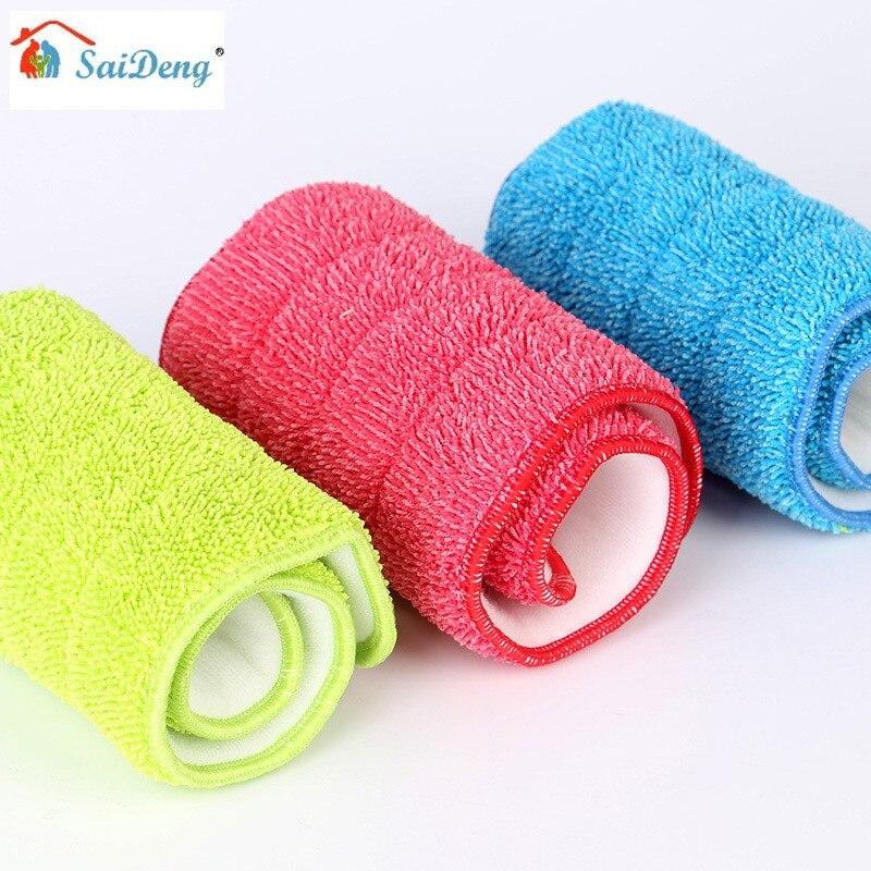 Microfiber Cloth Wet: SaiDeng Wet Absorption Dry Dust Microfiber Flat Mop Cloth
