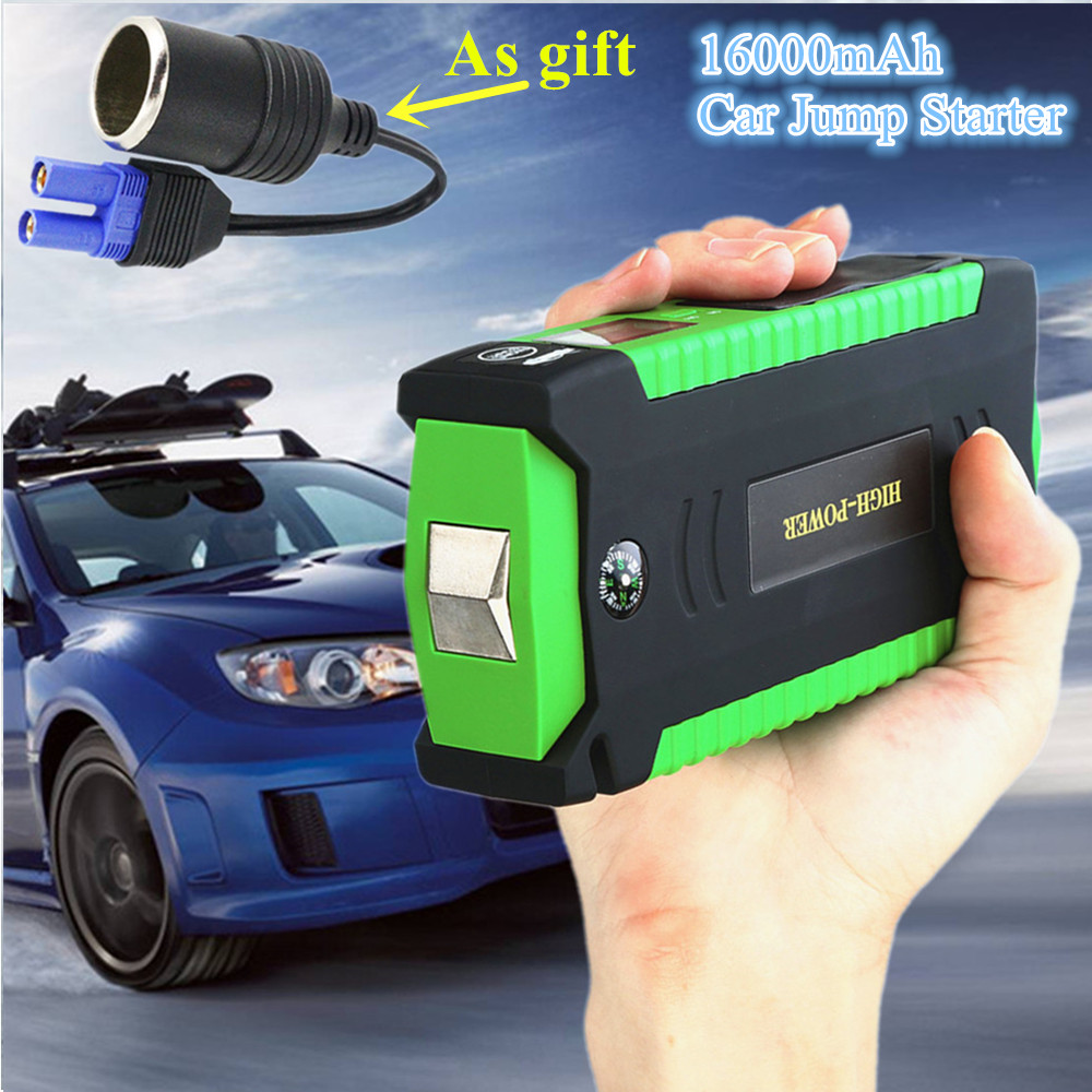 2019 Multi-Function 600A 12V Car Jump Starter 4USB Power Bank 16000mAh Mini Starting Device Car Charger For Car Battery Booster