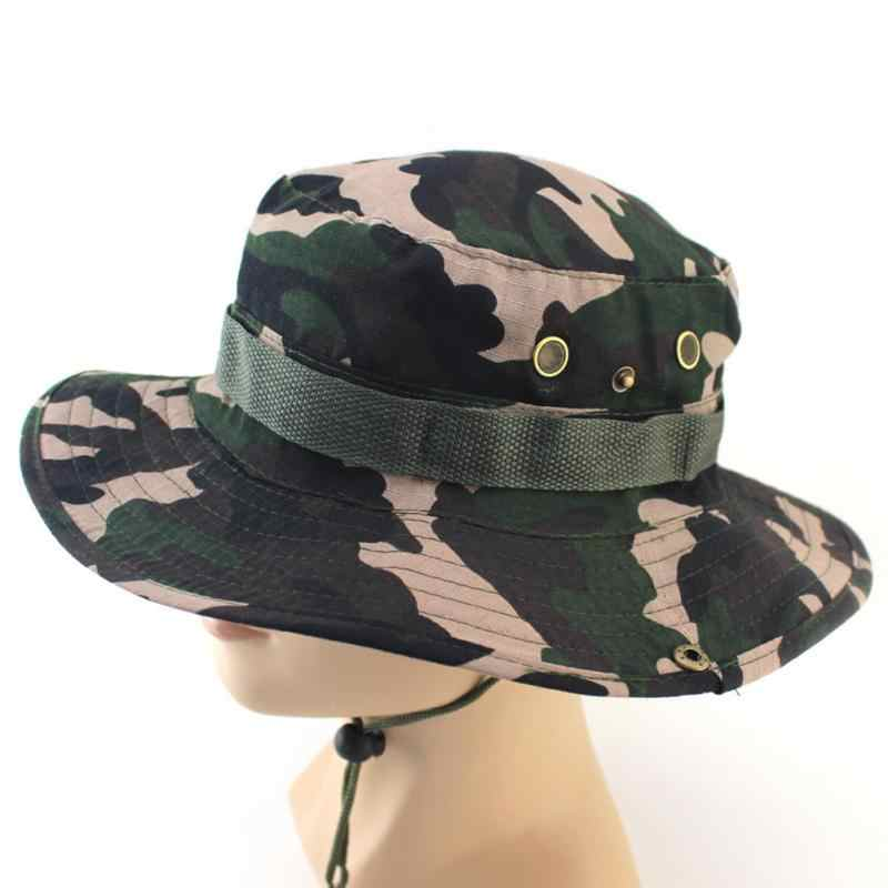 6f45d931d2c61 ... Tactical Airsoft Sniper Camouflage Boonie Hats Nepalese Cap Militares Army  Mens Military Accessories A-tacs ...
