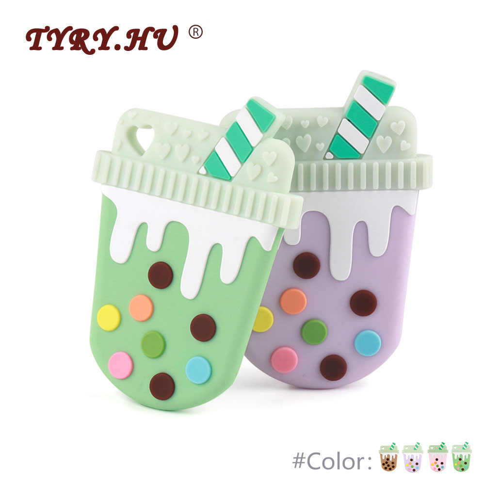 TYRY.HU Baby Teether 1PC Cartoon Mordedor Silicona BPA Free Teething Silicone Beads Toy DIY Pacifier Chain Pendant Accessories