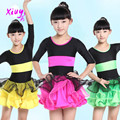 20pcs/lot Free Shipping Kids Standard Latin Dance Dress for Girls Children Stage Performance Wear Ballroom Dance Costume Clothes