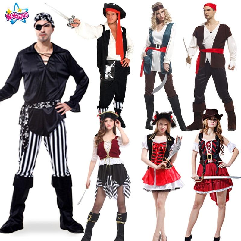 Pirate jelmez jelmez Halloween díszes ruhákhoz Farsangi jelmezek cosplay jelmez anime ruházat középkori ruha férfi kalóz
