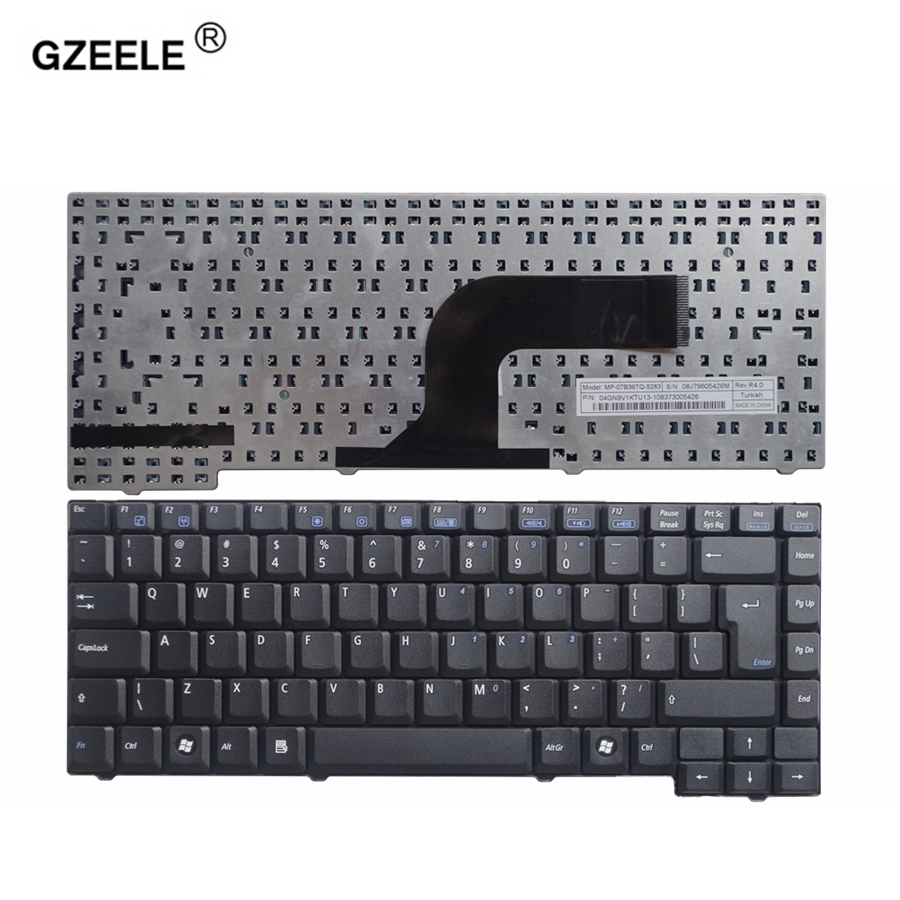 GZEELE NEW US Laptop Keyboard For ASUS X50M F5Z F5VL Replace F5 F5Q F5M English F5R F5N F5SL Keyboard F5J F5V UI Layout Black
