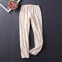 Lingerie Pajamas for Women Pijama Home Pants Sleepwear 100% Cotton Pajama Pants