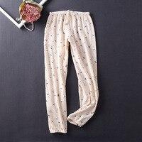 Lingerie Pajamas for Women Pijama Home Pants Sleepwear 100% Cotton Pajama Pants