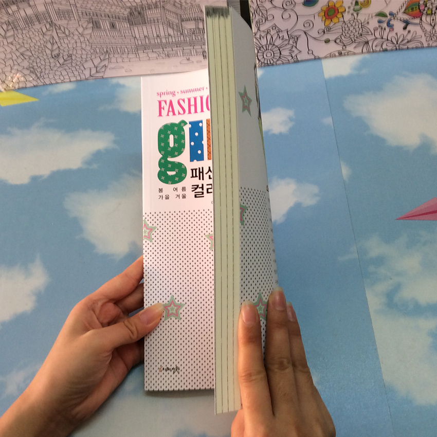 Image 3 - 92 Pages Fashion Girl Coloring Book For Children Adults Relieve Stress Graffiti Secret Garden Painting Drawing Books-in Books from Office & School Supplies