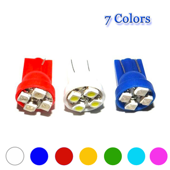 1000X T10 4 SMD 1210 3528 LED 4SMD 4LED 194 168 w5w Wedge License Plate Indicator clearance lamp 12V white red green blue yellow