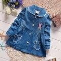 Весна Осень девушки дети ребенок Мультфильм куртки пальто и пиджаки джинсы принцесса пальто Кардиган MT633