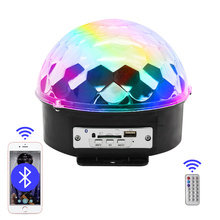 MP3 LED Magic Ball Digital RGB Music Crystal Effect Bluetooth USB Disco DJ Stage Lighting Remote Control