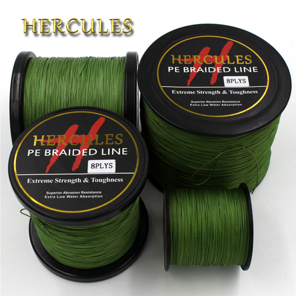 Hercules 8 Strands 100M 300M 500M 1000M 1500M 2000M Army Green Braid Fishing Line Sea Saltwater Fishing Super Strong SuperPower парогенератор с утюгом silter super mini 2000m 1литр с манометром