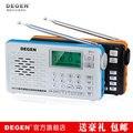 Degen DE29 FM / MW / SW Full Band de ondas curtas de rádio dab digital kit MP3 com lyric exibir, Dsp receptor, Em todo o mundo voz RECEIVER