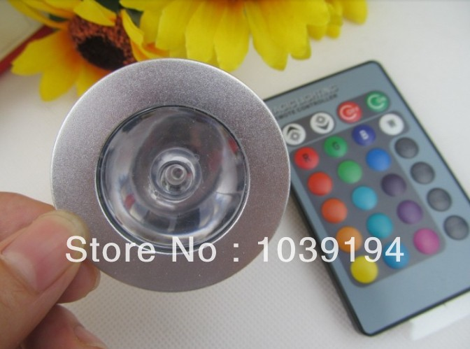 3W E27 RGB LED Bulb 16 Color Change Lamp spotlight 110 220v for Home Party decoration with IR Remote smart bulb e27 7w led bulb energy saving lamp color changeable smart bulb led lighting for iphone android home bedroom lighitng