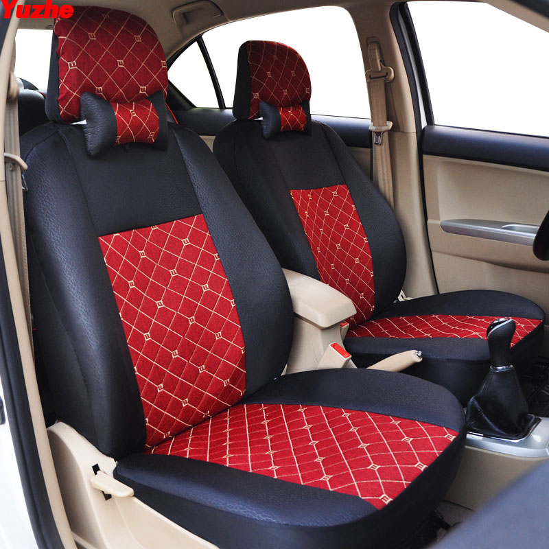 Yuzhe Universal Auto car seat cover For honda civic 2006-2011 cr-v accord 7 city FIT car accessories cover for vehicle seat for honda civic accord crv xrv fit brand black luxury soft leather car seat cover front and rear complete set cover for car seat