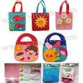 50PCS/LOT.Handmade fabric kids handbag craft kits,Felt children bag,Kids toys,Early educational toys,Birthday gifts,5 design,OEM