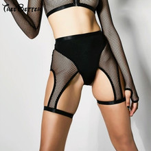Fishnet Mesh Stitching Hollow Out Sexy High Waist Bottom Short Patchwork Club Party Slim Hip 2019 Summer Mujer Casual Shorts