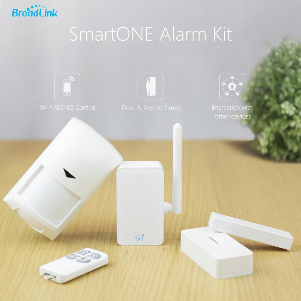 все цены на 100% Original Broadlink S1/S1C SmartOne Alarm&Security Kit For Smart Home Automation Alarm System IOS Android Remote Smart Kit онлайн