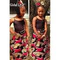 Глобальный Любовник 2016 Горячей Продажи Одежды Напечатаны Девушка Лето Африканская Печати Одежда для Девушки Dashiki Одежда Ребенок Партия Принцессы