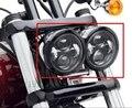 Motocicleta Harley Dyna Fat Bob Estilo Daymaker Faros 4.5 inch sola luz de cruce y sencilla de carretera FatBob Dual faro