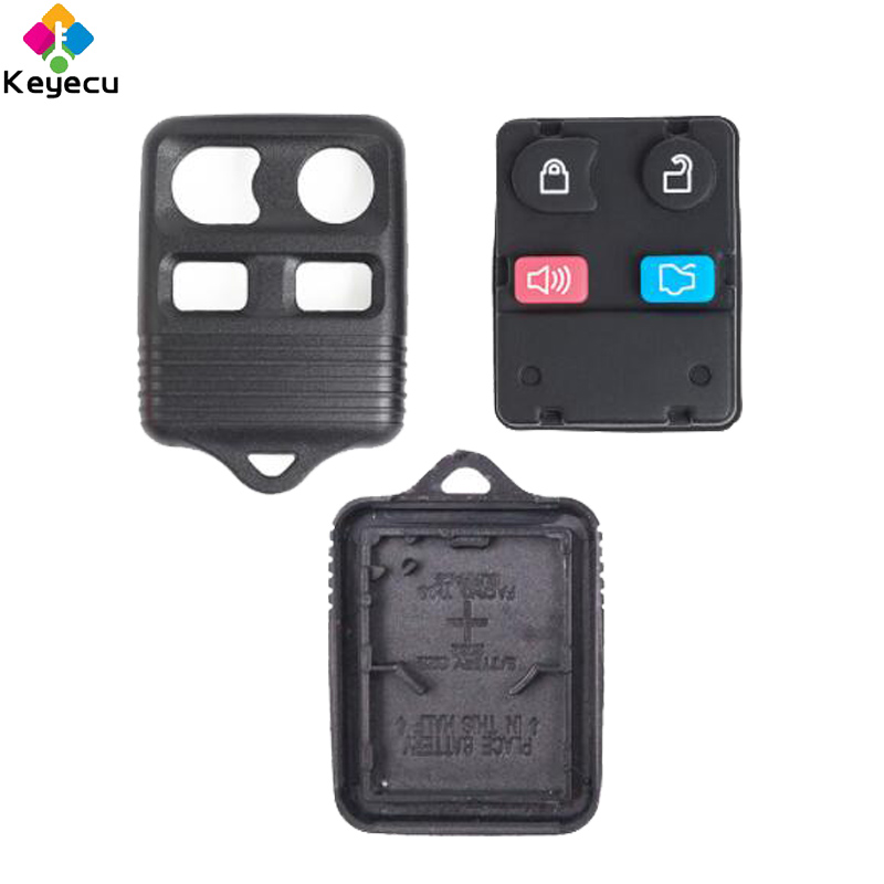 Keyecu Remote Car Key Shell Case Housing 4 Buttons Fob For Ford