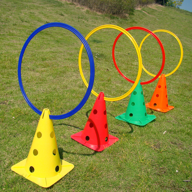 12 Pcs/Set 40cm Soccer Speed Agility Rings ABS Sensitive Soccer Training Equipment Pace Lap Football Ball Training Accessories